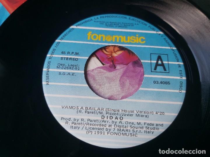 """Discos de vinilo: Didao – Vamos A Bailar , Vinyl, 7"""" Single 1991 Spain 03.4065 - Foto 3 - 288137023"""