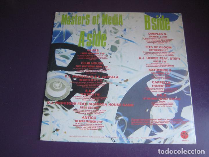 Discos de vinilo: Masters Of Media - LP MEDIA ITALIA 1992 - ELECTRONICA HOUSE - 12 TEMAS - 12 ARTISTAS - POCO USO - Foto 3 - 288142893