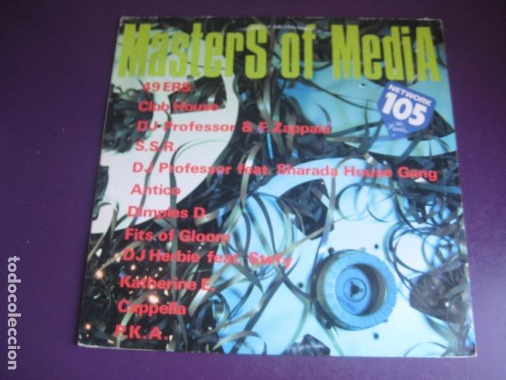 MASTERS OF MEDIA - LP MEDIA ITALIA 1992 - ELECTRONICA HOUSE - 12 TEMAS - 12 ARTISTAS - POCO USO (Música - Discos - LP Vinilo - Techno, Trance y House)
