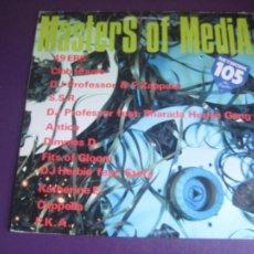 Discos de vinilo: MASTERS OF MEDIA - LP MEDIA ITALIA 1992 - ELECTRONICA HOUSE - 12 TEMAS - 12 ARTISTAS - POCO USO. Lote 288142893