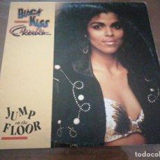 Discos de vinilo: DISCO MÚSICA LP VINILO MAXI SINGLE JUMP ON THE FLOOR BLACK KISS FEATURING CHERITA. Lote 288144808