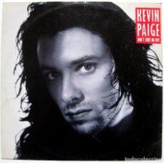 Discos de vinilo: KEVIN PAIGE - DON'T SHUT ME OUT - MAXI CHRYSALIS 1989 UK BPY. Lote 288145028