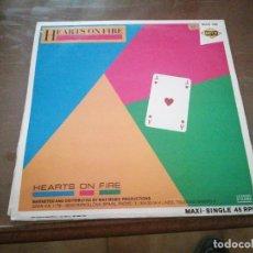 Discos de vinilo: DISCO MÚSICA LP VINILO MAXI SINGLE HEARTS ON FIRE. Lote 288145283