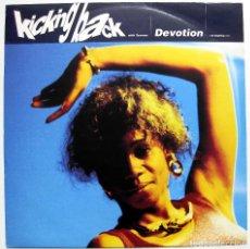 Discos de vinilo: KICKING BACK WITH TAXMAN - DEVOTION (THE-MOTIVE MIX) - MAXI 10 RECORDS 1990 UK BPY. Lote 288146648