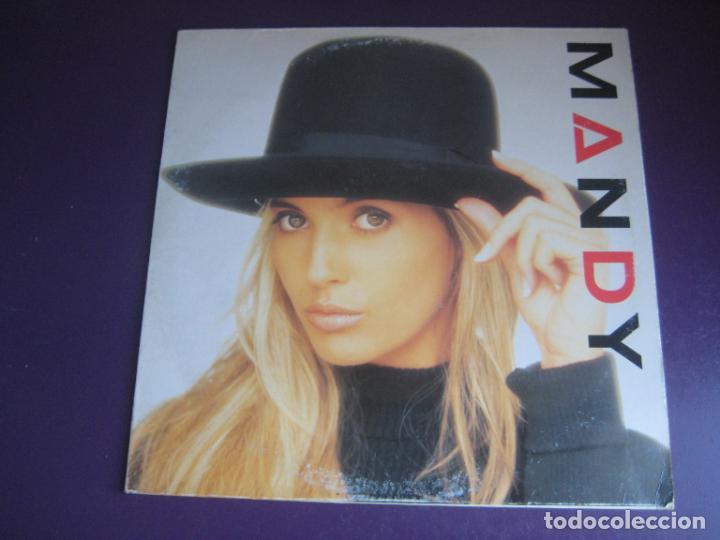 MANDY - LP SANNI 1988 SIN USO - ELECTRONICA DISCO POP 80'S - PORTADA UN POCO ROZADA (Música - Discos - LP Vinilo - Disco y Dance)