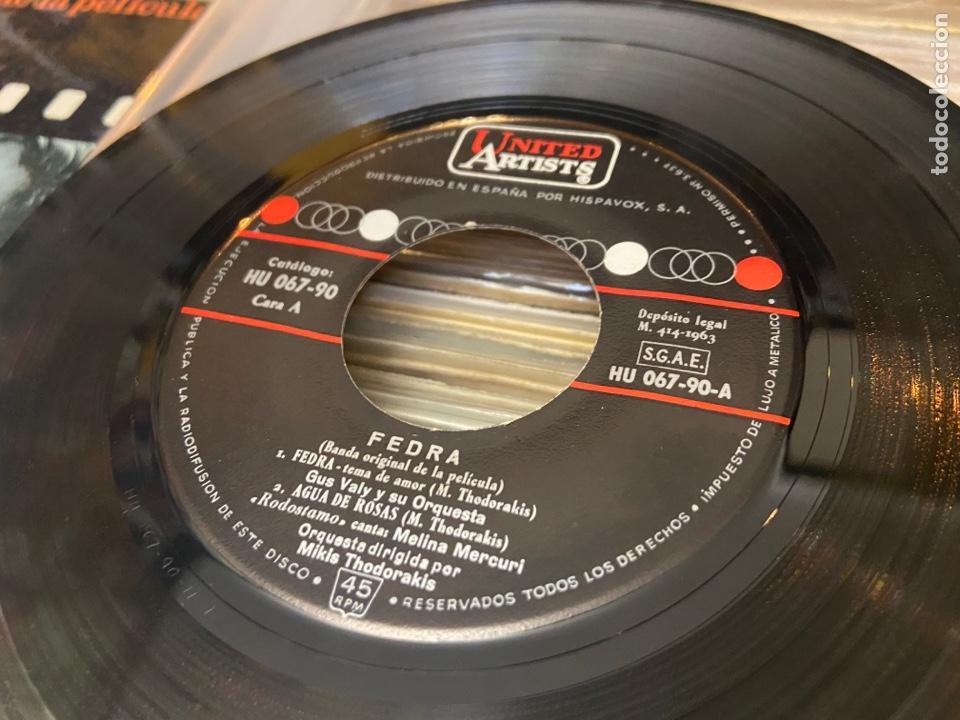 Discos de vinilo: FEDRA - BSO - CANTA MELINA MERCOURI - TEMAS EN FOTO CONTRAPORTADA - SPAIN EP - Foto 3 - 288157823