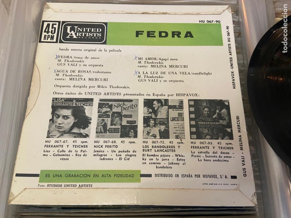 Discos de vinilo: FEDRA - BSO - CANTA MELINA MERCOURI - TEMAS EN FOTO CONTRAPORTADA - SPAIN EP - Foto 5 - 288157823