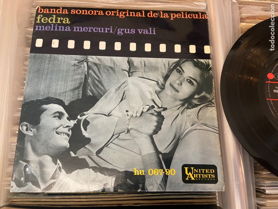 FEDRA - BSO - CANTA MELINA MERCOURI - TEMAS EN FOTO CONTRAPORTADA - SPAIN EP (Música - Discos de Vinilo - EPs - Bandas Sonoras y Actores)