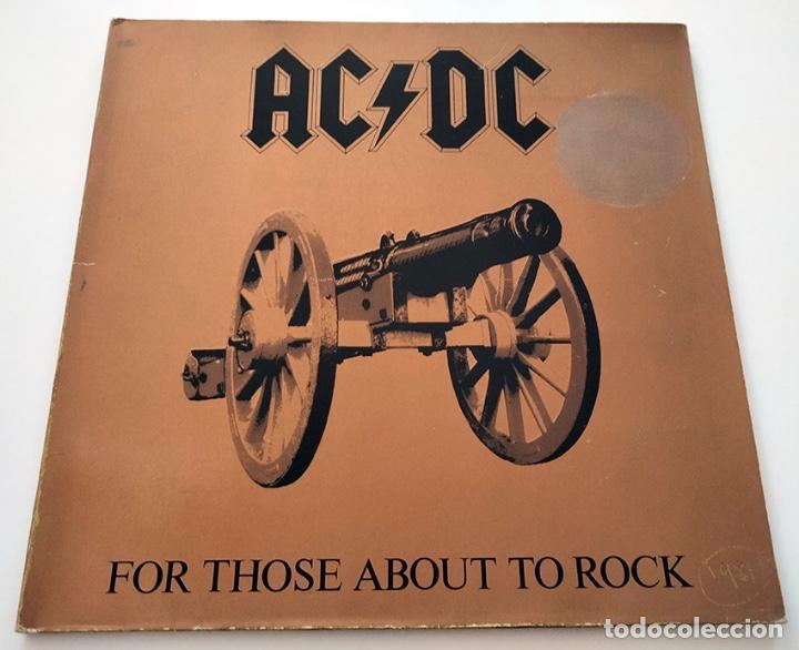 VINILO LP DE AC/DC. FOR THOSE ABOUT TO ROCK. 1981. (Música - Discos - LP Vinilo - Heavy - Metal)