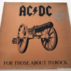 Dischi in vinile: VINILO LP DE AC/DC. FOR THOSE ABOUT TO ROCK. 1981.. Lote 288170033