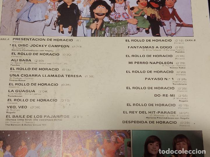 Discos de vinilo: EL SHOW DE HORACIO PINCHADISCOS / CON PARCHIS / LP - BELTER-1981 / MBC. ***/*** - Foto 4 - 288171278