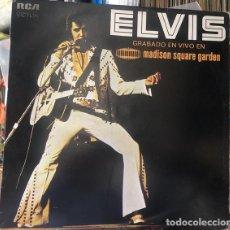 Discos de vinilo: ELVIS PRESLEY – GRABADO EN VIVO EN MADISON SQUARE GARDEN -LP / SPAIN-. Lote 288188713
