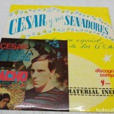 Discos de vinilo: CESAR Y SUS SENADORES - HISTORIA DE LA MUSICA POP ESPAÑOLA (LP, COMP). Lote 288192388