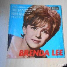 Discos de vinilo: BRENDA LEE, EP, RIDE, RIDE, RIDE + 3, AÑO 1967. Lote 288206883