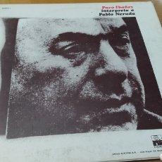Discos de vinilo: DISCO VINILO LP PACO IBAÑEZ INTERPRETA A PABLO NERUDA. Lote 288207833