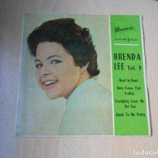 Discos de vinilo: BRENDA LEE, EP, HEART IN HAND + 3, AÑO 1962. Lote 288208418