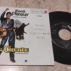 Discos de vinilo: ELVIS PRESLEY KING CREOLE + 3 EP SPAIN 1962-. Lote 288212388