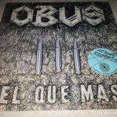 Disques de vinyle: OBUS-EL QUE MAS-ORIGINAL CHAPA DISCOS 1984-CONTIENE ENCARTE POSTER. Lote 288216788
