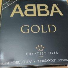 "Discos de vinilo: DOBLE DISCO VINILO ABBA ""GOLD"" EDICION ESPAÑOLA DE 1992. Lote 288217718"