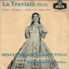 Discos de vinilo: LA TRAVIATA - VERDI - RENATA TEBALDI Y GIANNI POGGI - DECCA - 1958. Lote 288229128