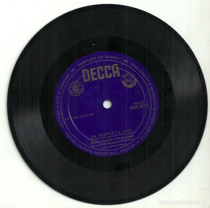 Discos de vinilo: LA TRAVIATA - VERDI - RENATA TEBALDI Y GIANNI POGGI - DECCA - 1958 - Foto 2 - 288229128