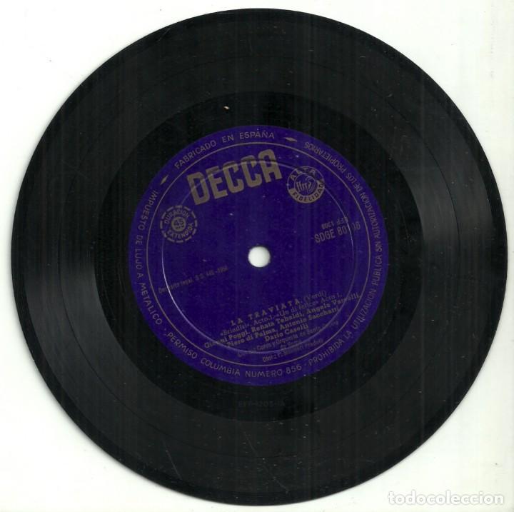 Discos de vinilo: LA TRAVIATA - VERDI - RENATA TEBALDI Y GIANNI POGGI - DECCA - 1958 - Foto 3 - 288229128