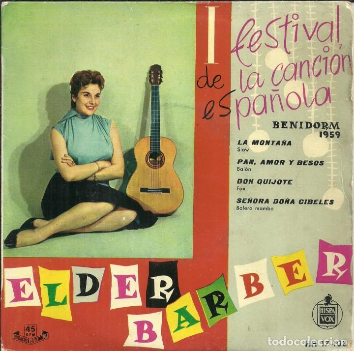 I FESTIVAL DE· LA CANCIÓN ESPAÑOLA - ELDER BARBER - BENIDORM 1959 (Música - Discos de Vinilo - EPs - Otros Festivales de la Canción)
