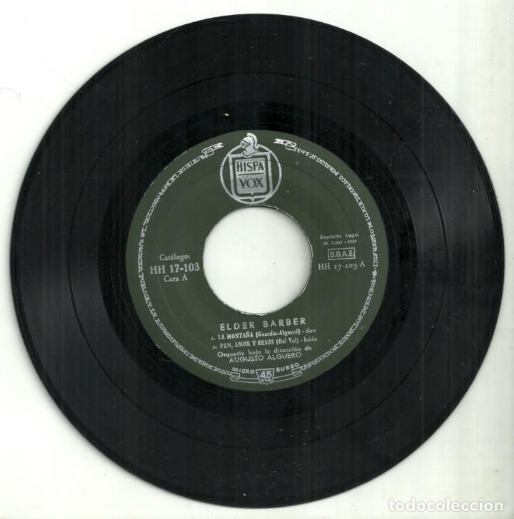 Discos de vinilo: I FESTIVAL DE· LA CANCIÓN ESPAÑOLA - ELDER BARBER - BENIDORM 1959 - Foto 2 - 288229693