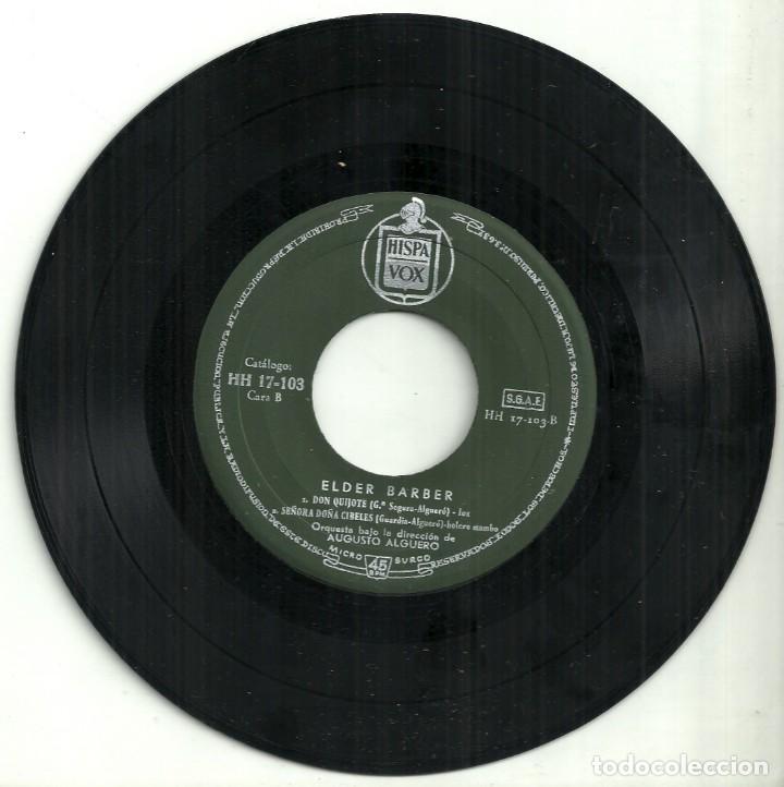 Discos de vinilo: I FESTIVAL DE· LA CANCIÓN ESPAÑOLA - ELDER BARBER - BENIDORM 1959 - Foto 3 - 288229693