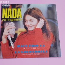 Discos de vinilo: DISCO - SINGLE - NADA - HACE FRÍO YA - CANTA EN ESPAÑOL - 1969 - FUNDA - COMO NUEVO.. Lote 288231743