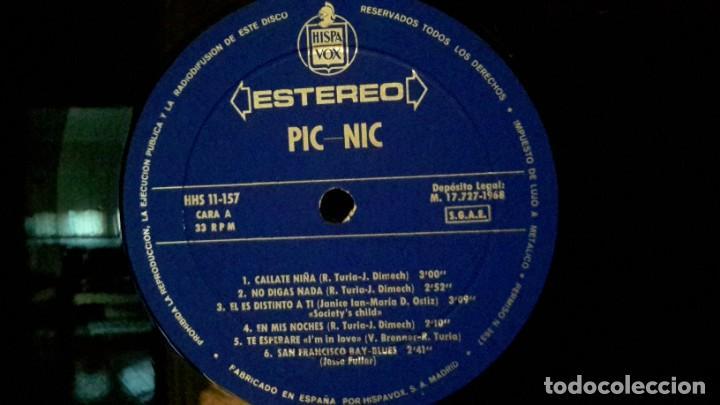 Discos de vinilo: PIC NIC - ORIGINAL 1968 - Foto 3 - 288306023
