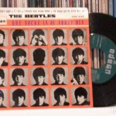 Discos de vinilo: BEATLES - QUE NOCHE LA DE AQUEL DIA - LABEL VERDE. Lote 288307348