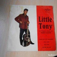 Discos de vinilo: LITTLE TONY, EP, PERCHE M´HAI FATTO INNAMORARE? + 3, AÑO 1961. Lote 288308743