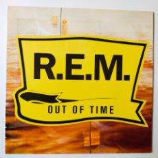 Discos de vinilo: REM- OUT OF TIME- EUROPE LP 1991 + INSERT- EXC. ESTADO.. Lote 288310498