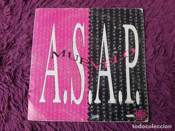 "ASAP – MUEVELO , VINYL, 7"" SINGLE SPAIN 1992 ENFAS-106 PROMO (Música - Discos - Singles Vinilo - Techno, Trance y House)"