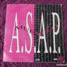 """Discos de vinilo: ASAP – MUEVELO , VINYL, 7"""" SINGLE SPAIN 1992 ENFAS-106 PROMO. Lote 288310508"""