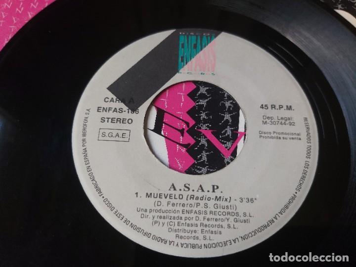 """Discos de vinilo: ASAP – Muevelo , Vinyl, 7"""" Single Spain 1992 ENFAS-106 PROMO - Foto 3 - 288310508"""