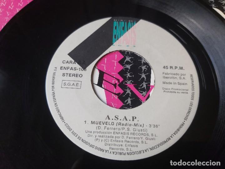 """Discos de vinilo: ASAP – Muevelo , Vinyl, 7"""" Single Spain 1992 ENFAS-106 PROMO - Foto 6 - 288310508"""