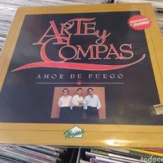 Discos de vinilo: ARTE Y COMPAS-AMOR DE FUEGO. LP VINILO BUEN ESTADO.. Lote 288311288