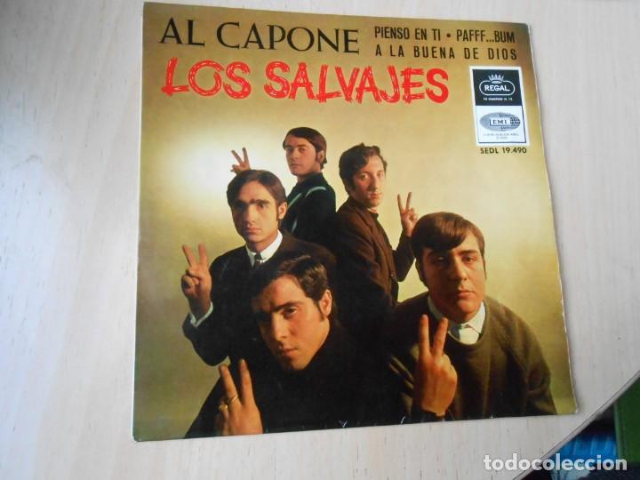 SALVAJES, LOS, EP, PIENSO EN TI + 3, AÑO 1966 (Música - Discos de Vinilo - EPs - Grupos Españoles 50 y 60)