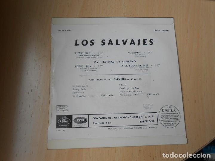 Discos de vinilo: SALVAJES, LOS, EP, PIENSO EN TI + 3, AÑO 1966 - Foto 2 - 288311358