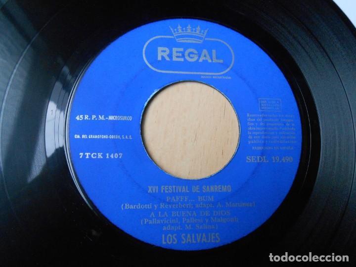 Discos de vinilo: SALVAJES, LOS, EP, PIENSO EN TI + 3, AÑO 1966 - Foto 3 - 288311358