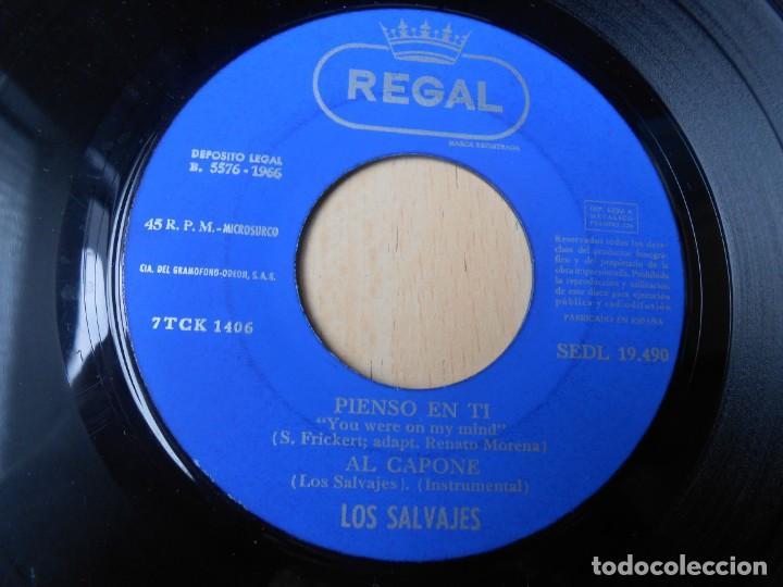Discos de vinilo: SALVAJES, LOS, EP, PIENSO EN TI + 3, AÑO 1966 - Foto 4 - 288311358