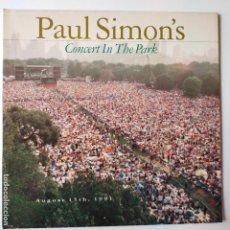 Discos de vinilo: PAUL SIMON- CONCERT IN THE PARK- EUROPE 2 LP 1991- VINILOS COMO NUEVOS.. Lote 288316453