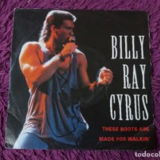 """Discos de vinilo: BILLY RAY CYRUS – THESE BOOTS ARE MADE FOR WALKIN' ,VINYL, 7"""" SINGLE 1992 GERMANY 864 588-7. Lote 288316923"""