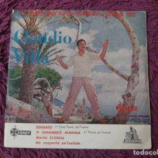 """Discos de vinilo: CLAUDIO VILLA – BINARIO,VINYL, 7"""" EP 1959 SPAIN CP-1033. Lote 288321588"""