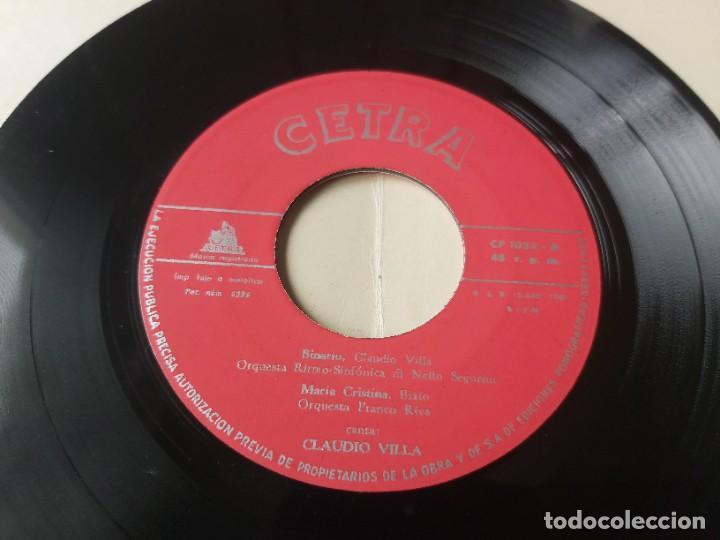 """Discos de vinilo: Claudio Villa – Binario,Vinyl, 7"""" EP 1959 Spain CP-1033 - Foto 4 - 288321588"""
