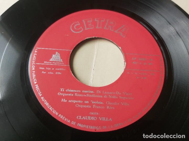 """Discos de vinilo: Claudio Villa – Binario,Vinyl, 7"""" EP 1959 Spain CP-1033 - Foto 6 - 288321588"""
