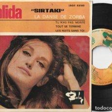 Discos de vinilo: DALIDA - SIRTAKI + 3 (EP BARCLAY 1965 ESPAÑA). Lote 288326398