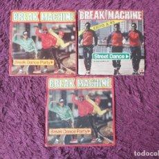 "Discos de vinilo: BREAK MACHINE, 3 X VINYL, 7"" SINGLE. Lote 288326758"